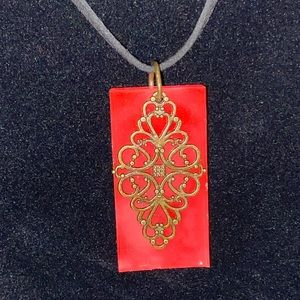 Jewelry - Handcrafted necklace pendant w/ two necklaces